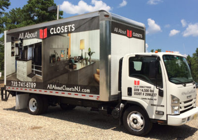 Box Truck Wrap- All About Closets