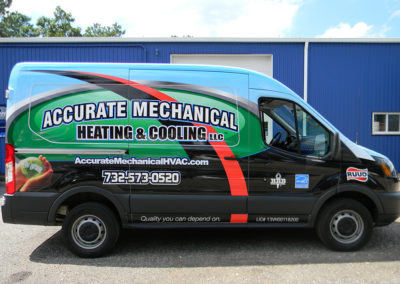Transit vehicle wrap, contractor vehicle wrap
